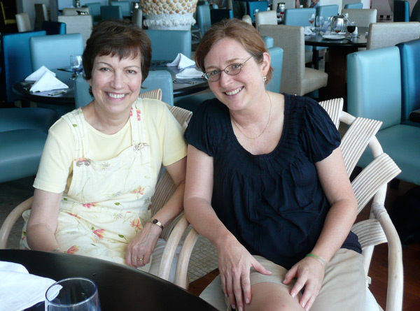 Me and Elise Bauer in the dining room at Club Med Ixtapa