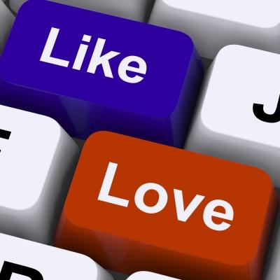 Like-Love-Social Media