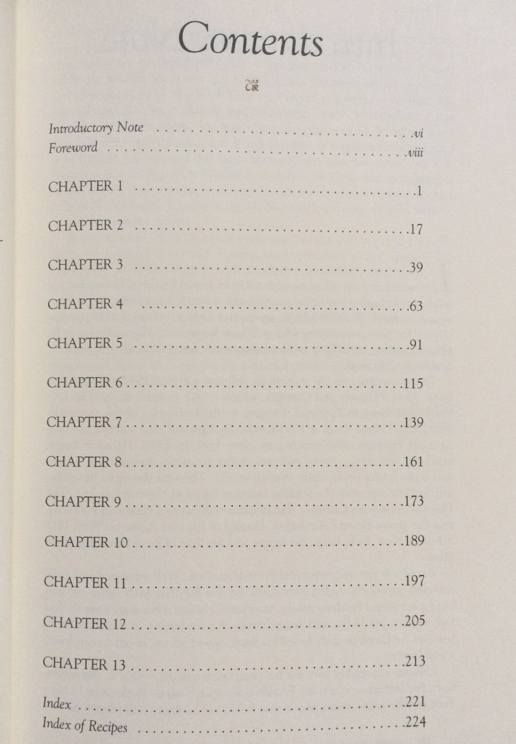 Worst table of contents ever. And it's a famous cookbook. Anyone know which one?
