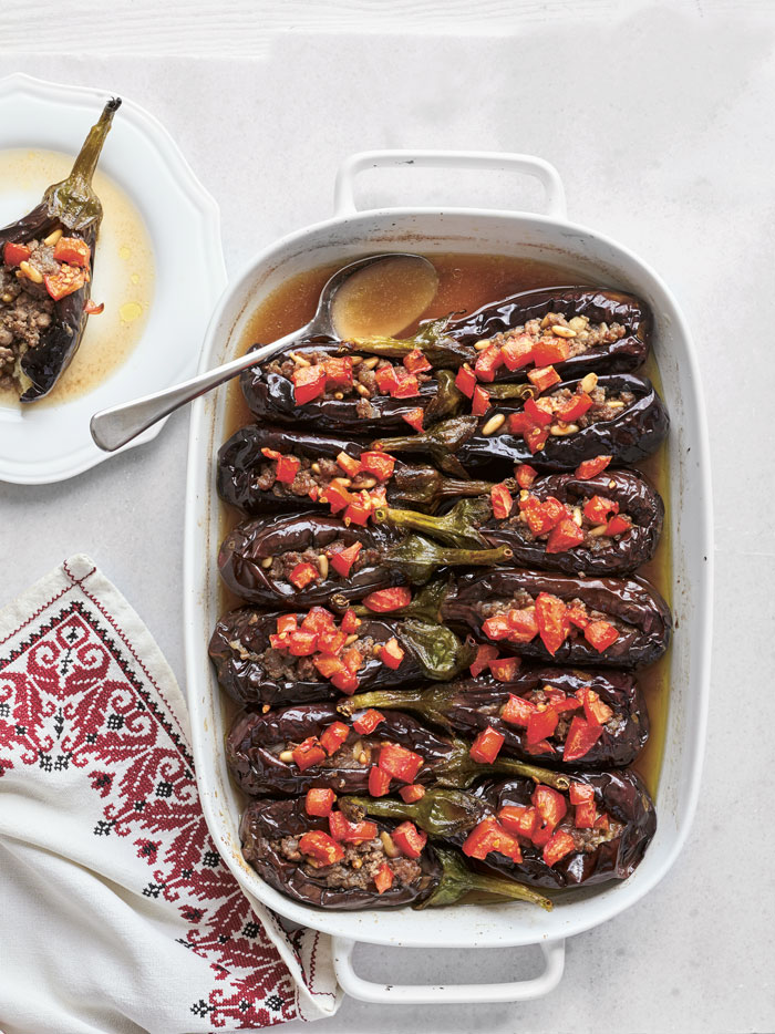 Baked eggplant in The Palestinian Table.