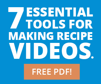 image for making recipe videos & free pdf