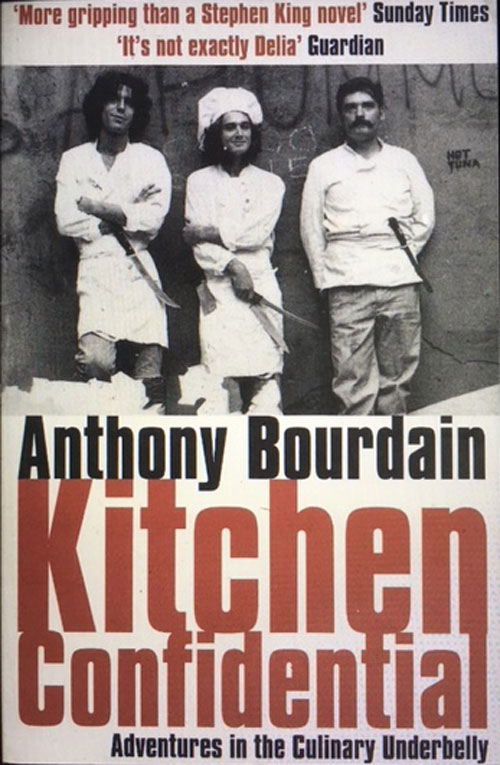 image of book Kitchen Confidential, for interview with Anthony Bourdain