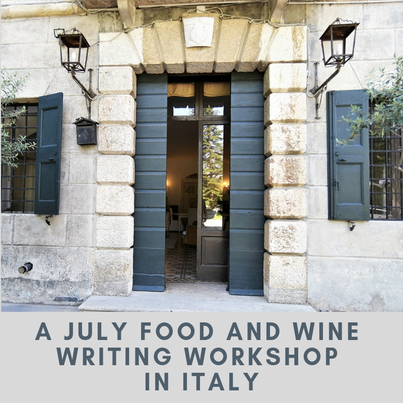 food and wine writing workshop 2019