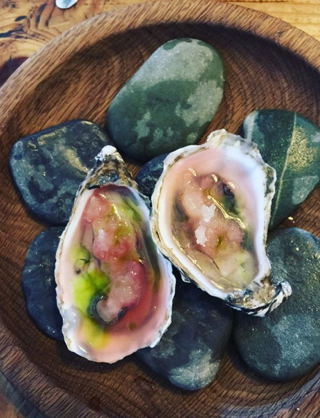 image of oysters at a West Cork restaurant