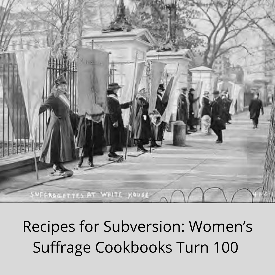 image of women's suffrage cookbooks