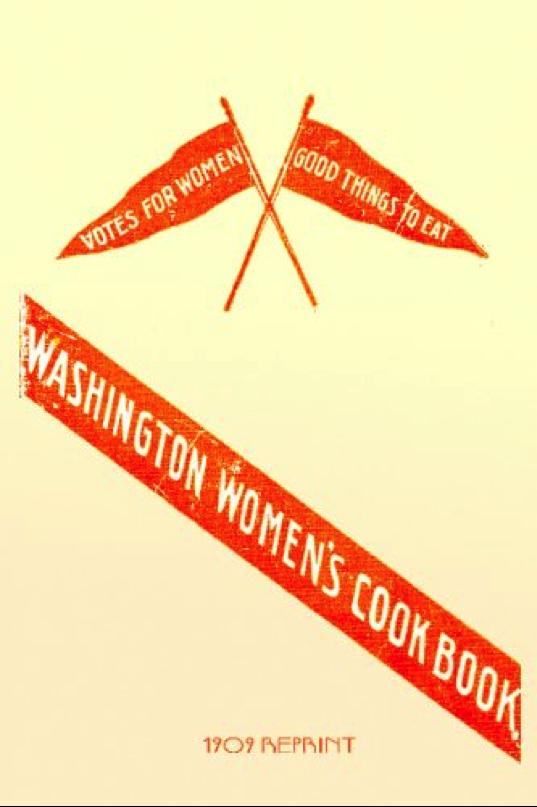 image of Washington women's suffrage cookbooks.
